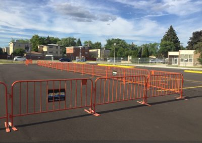 rental-barricades-in-parking-lot